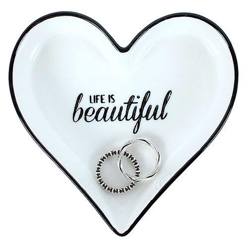 MM_37116.  Life is Beautiful Jewellery dish.