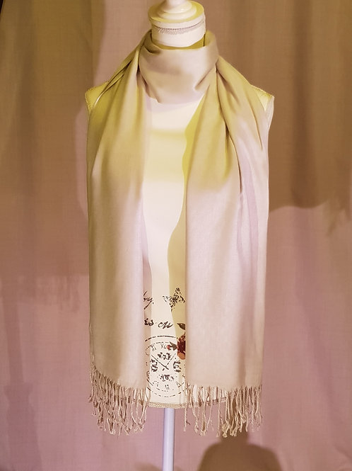 Beige pashmina scarf