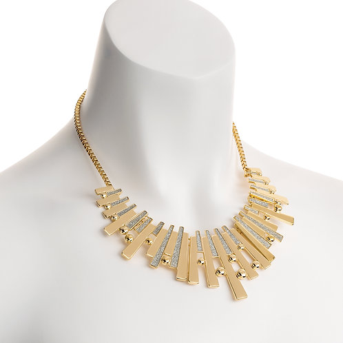 N30642. Glitter effect necklace.