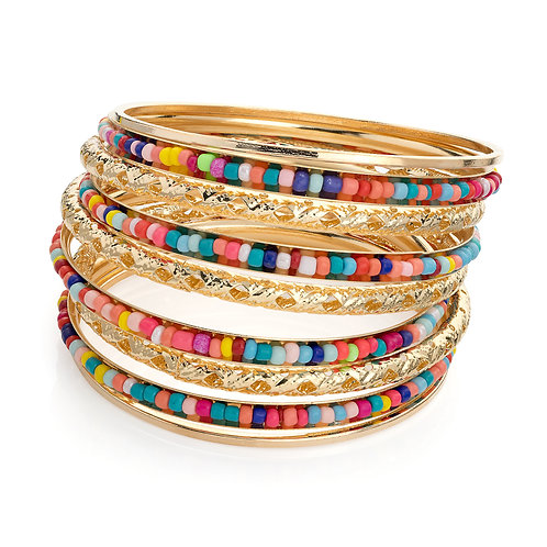 BA30456.  Multi bead bangle.