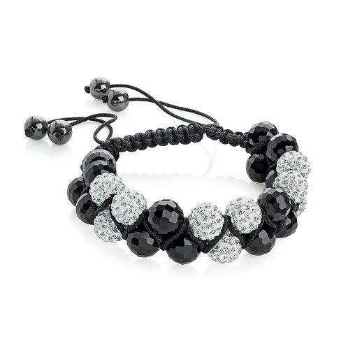 BL30562.  Crystal Bead adjustable bracelet.