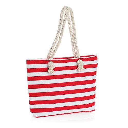 BG31238, BG31240.  Stripe rope handle bag.