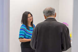 Dr.Rajbhandari helping a patient