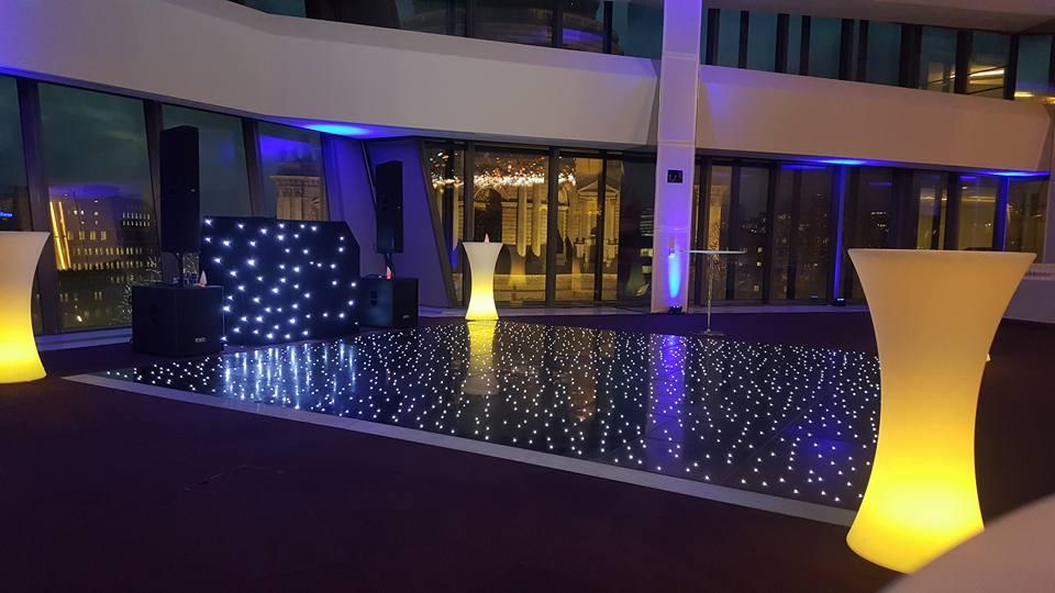 Black LED Dancefloor Hire