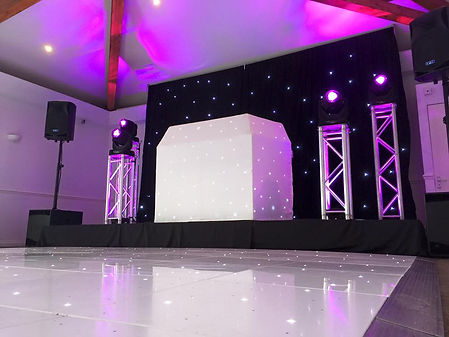 Starcloth DJ Boothe and Backdrop Moving Head DJ Package