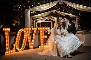 Large LED Letters | LOVE Letters | Bride and Groom