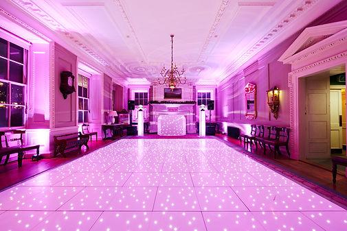 Starlight DJ Weddng Setup Dancefloor and Uplighting Setup