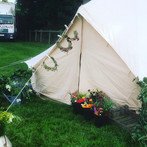 Flower crown workshops ready to take place in the Tipi at local festival 'Underneath the Stars'