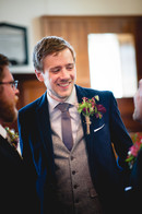 Grooms buttonhole using locally grown flowers by Hollow Meadows Flowers, Sheffield and the Peak District. Photo - Kate Cooper Photography
