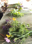 cut flowers ready for arranging by our attendees