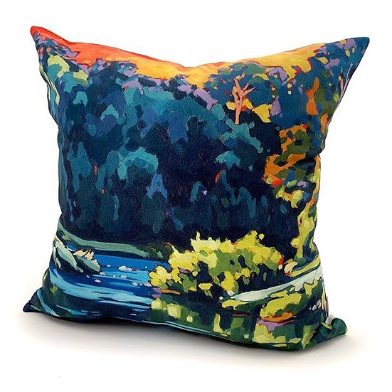 """Carried on the River"" pillow"
