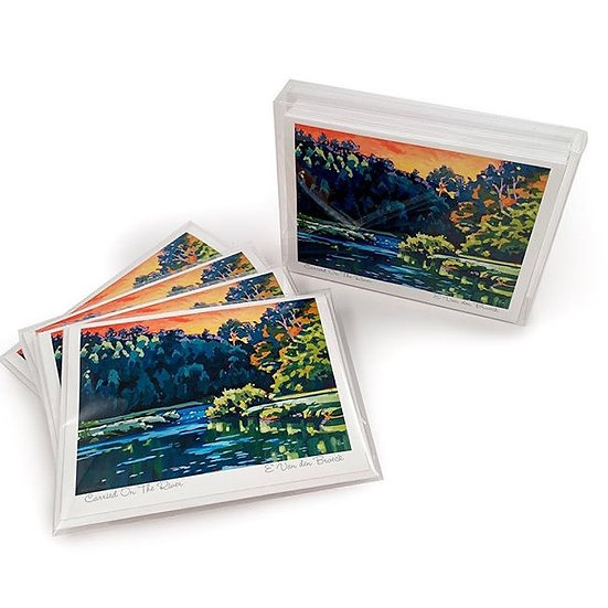 """""""Carried on the River"""" notecard"""