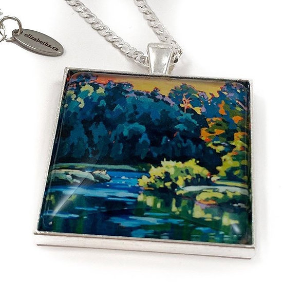 """""""Carried on the River"""" necklace"""