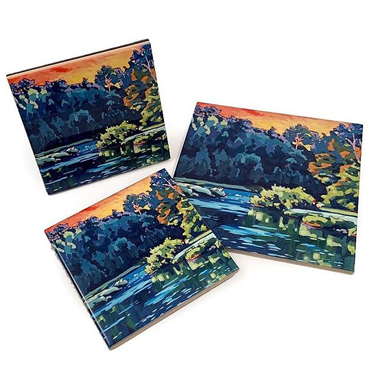"""Carried on the River"" tile"