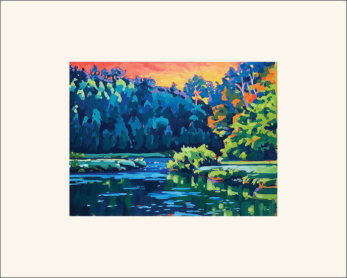 """""""Carried on the River"""" 8x10 matted print"""