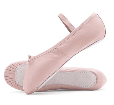 Pink Leather Ballet Dancing Shoes + BONUS
