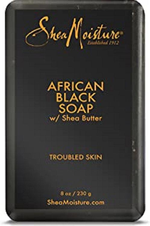 Shea Moisture Bar Soap African Black Soap 8 oz
