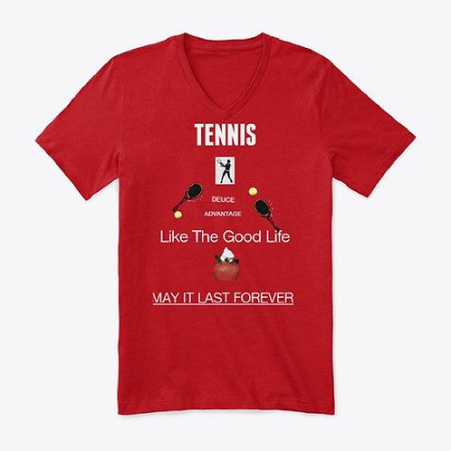 Red Tennis short-sleeve T-Shirt