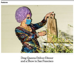 Drag queen Elsa Touche photo in New York Times