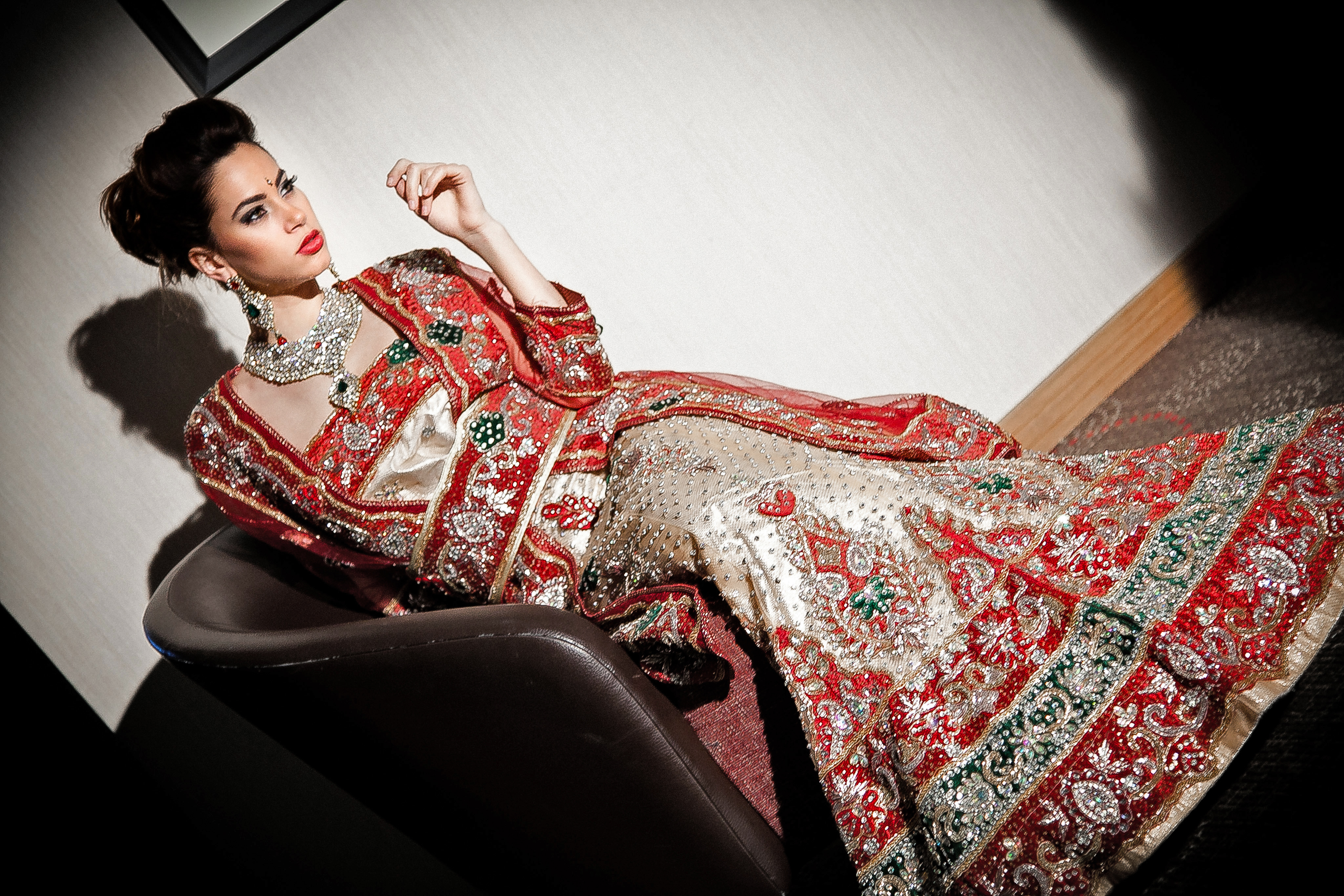 saree, sari indien, coiffure