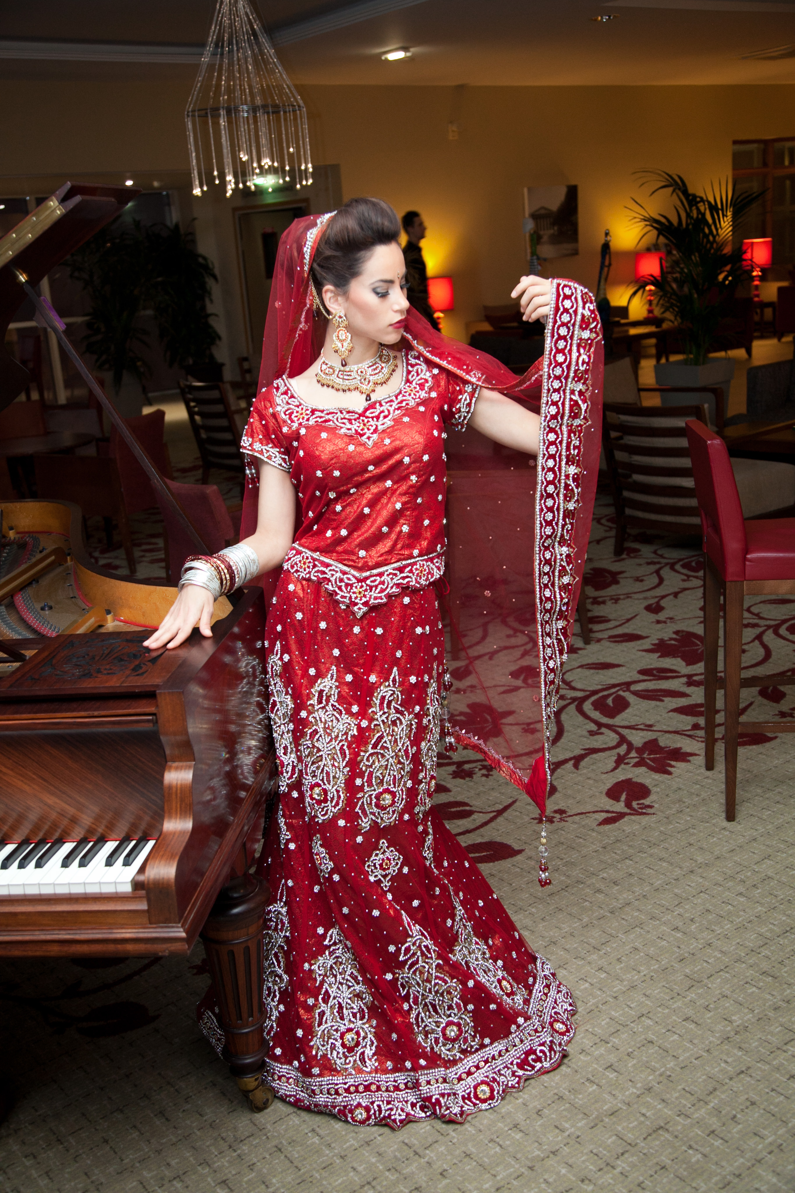 makeup,sari mariée, salle de mariage