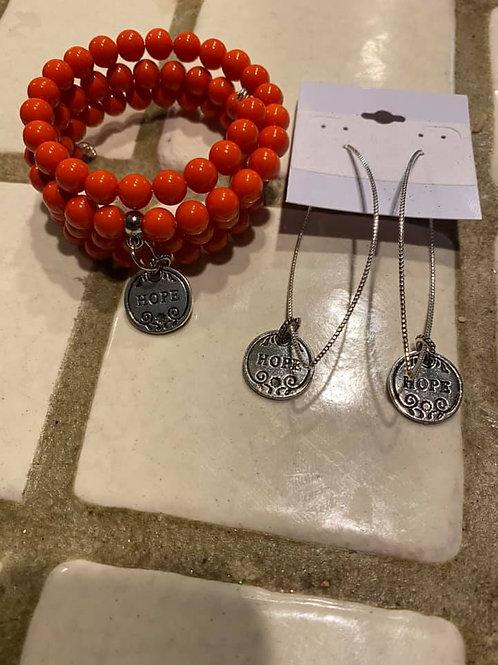 3-4 layered wire Charm Bracelets Set