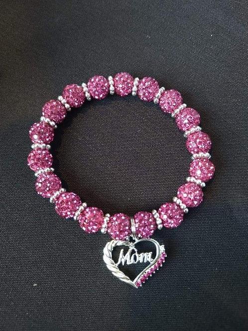 Pink & Silver Mom Bracelet
