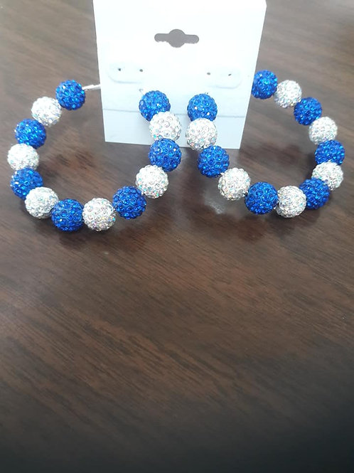 Indianapolis Colts Hoop Earrings
