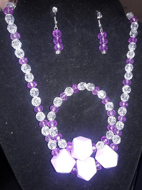 Kidz  Purple and Crystal 3 piece set