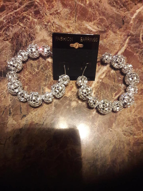 Crystal Clear Hoop Earrings