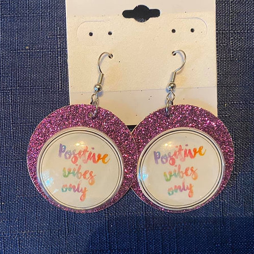 Felt Positive Vibes Only Earrings