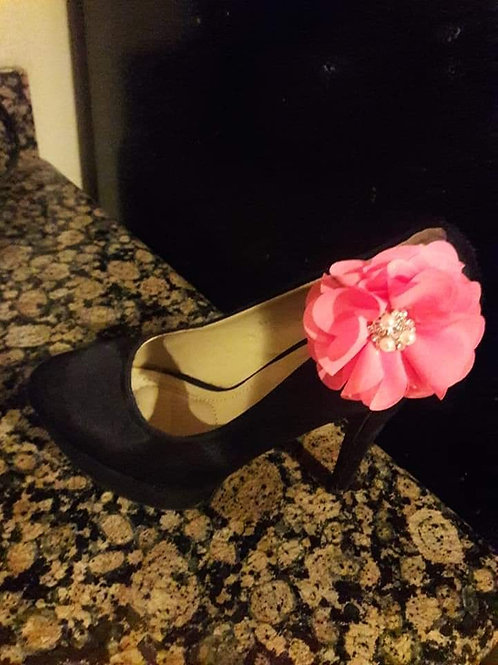 Black&Pink Ornament Shoe
