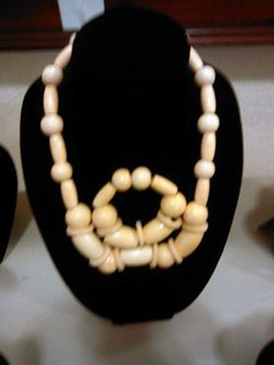 Wooden Pearl Necklace