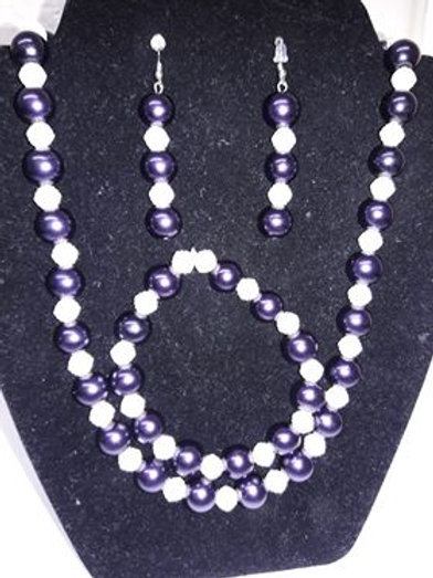 Purple n Pearl 3 pc Set
