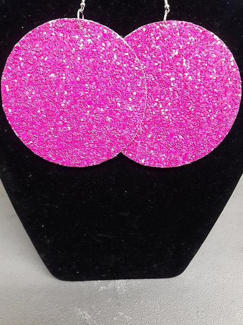 Hot Pink Felt Earrings