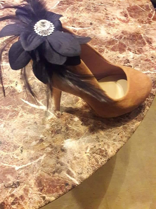 Flower & Feather Shoe Ornament