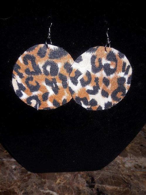Printed Felt Earrings
