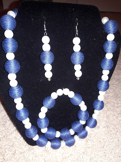 Jean and Pearl 3 pc Necklace Set