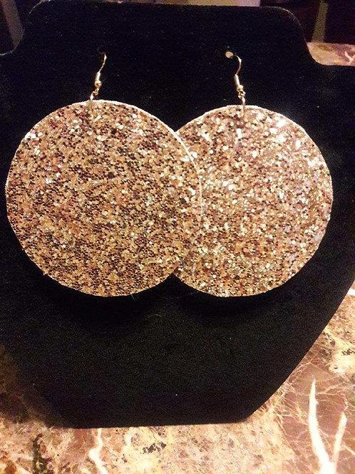 Gold Sparkling Felt Earrings