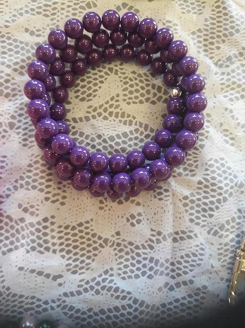 Purple Wire Wrapped Bracelet