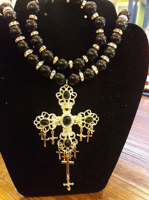 Sassy and Classy Black & Gold Necklace