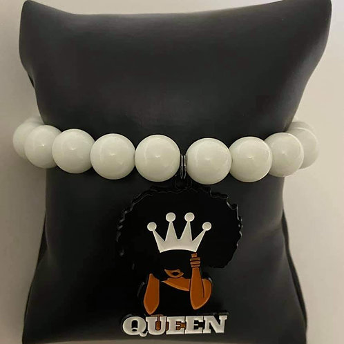 White Beaded Queen