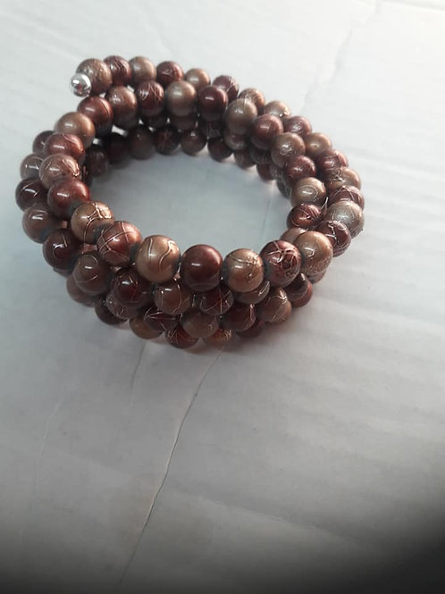 Brown Rusty Wrapped Bracelet