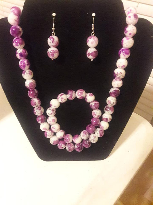 Purple, White, and Black 3 piece set