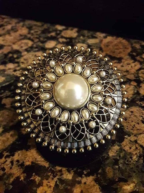 Pearl and Beads Ring