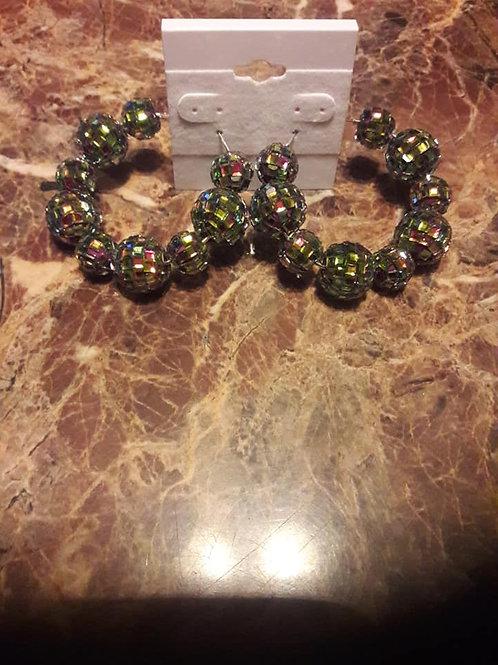 Lite Green Hoop Earrings