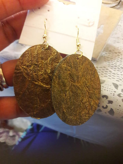 Gold Felt Ear Rings