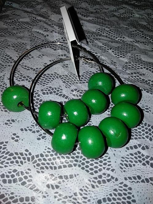 GreenApple Circle Hoop Earrings