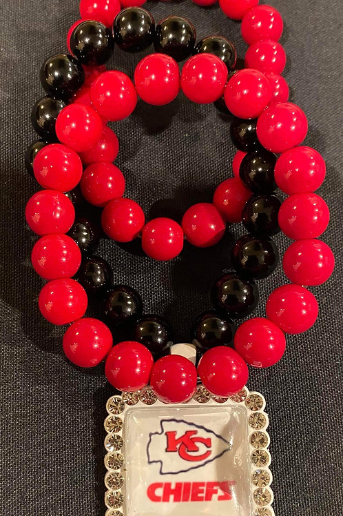 Red and Black Chiefs Bracelets