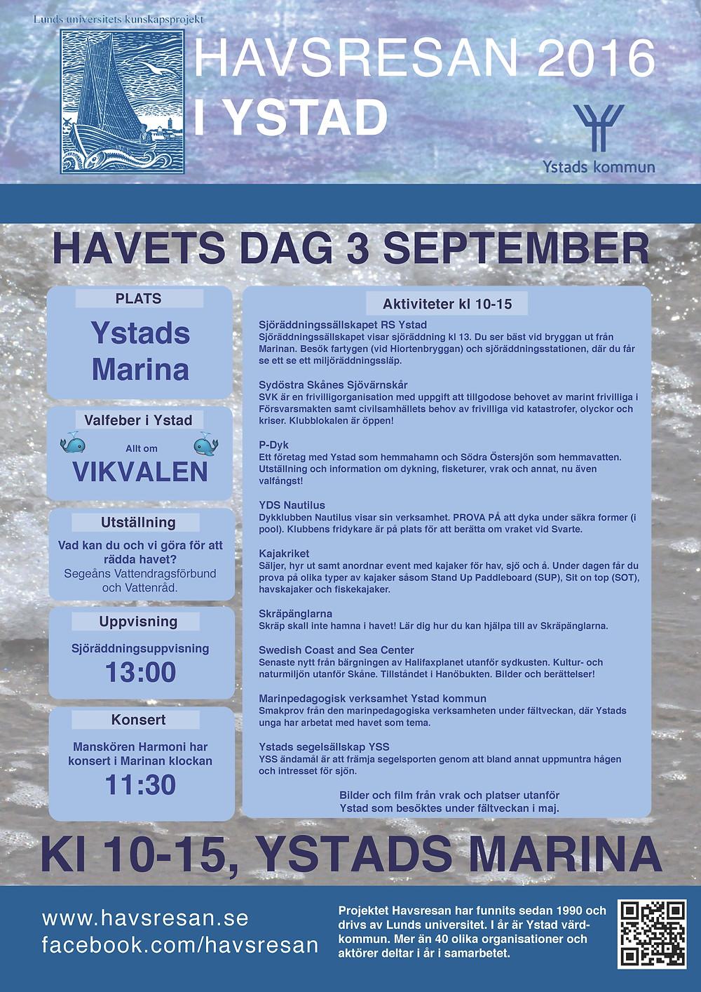 Sydkusten Skåne Havets Dag Havsresan Ystad